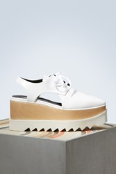 Stella Mccartney Elyse Cut Out Derby Shoes 9000 White