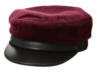 Bcbgmaxazria Faux Pony And Pu Military Wine Caps Burgundy