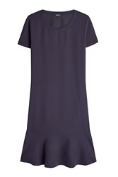 Jil Sander Navy Dress With Ruffled Hem