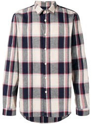 Folk Checked Shirt Nude And Neutrals
