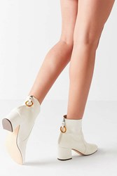 Urban Outfitters Harlow Faux Leather O Ring Ankle Boot Ivory