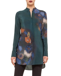 Akris Punto Floral Print Button Tunic