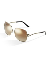 Just Cavalli Square Snake Sunglasses Gold