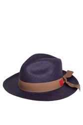 Sensi Studio Panama Hat With Embroidered Heart