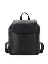 Cole Haan Ivy Pic Stitch Leather Backpack Black