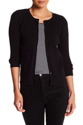 Kier And J Cable Knit Button Up Cardigan Black