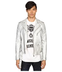 Dsquared Kiodo Sports Jacket Silver Men's Coat