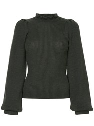Ulla Johnson Structured Shoulder Sweater Grey
