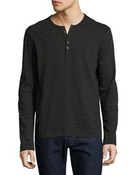 Atm Anthony Thomas Melillo Space Dyed Henley T Shirt Asphalt