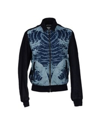 Just Cavalli Denim Outerwear Blue