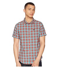Rvca That'll Do Plaid 3 Shirt Baked Apple Long Sleeve Button Up Red