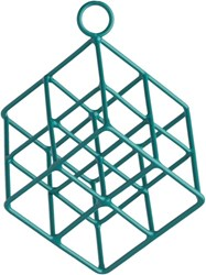 Cb2 Open Wire Teal Cube Ornament