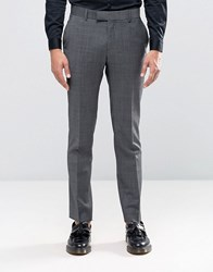 Ben Sherman Camden Super Skinny Suit Trousers In Seattle Prestige Grey Black