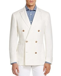 Canali Kei Double Breasted Classic Fit Sport Coat White