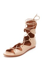 Iro Xiri Lace Up Gladiator Sandals Light Pink