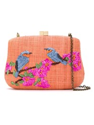 Serpui Embroidered Clutch Bag Yellow