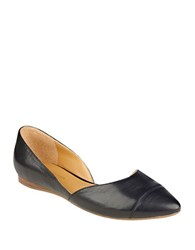 Tommy Hilfiger Naria2 Leather D Orsay Flats Black