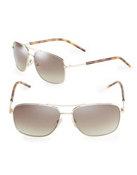 Marc Jacobs 59Mm Aviator Sunglasses Gold