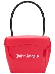 Palm Angels Printed Logo Tote Bag Red