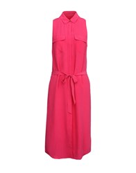 Equipment Femme Knee Length Dresses Fuchsia