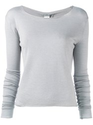 Kristensen Du Nord Boat Neck Sweater Grey