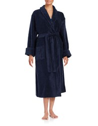 Lord And Taylor Long Terry Robe Blue