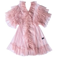 Supersweet X Moumi Tulle Babydoll In Dusty Pink