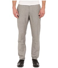 Perry Ellis Slim Fit Linen Cotton End On End Flat Front Pants Alloy Men's Casual Pants Gray