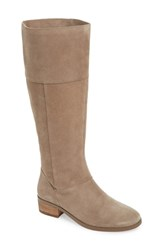 Sole Society Carlie Knee High Boot Fall Taupe Suede