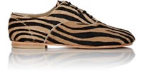 Comme Des Garcons Junya Watanabe Women's Zebra Print Oxfords Beige Black No Color Beige Black No Color