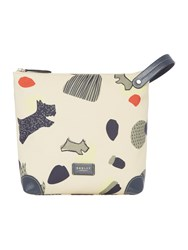 Radley Dash Dog Large Zip Cosmetic Bag Ivory