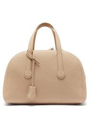 The Row Sporty Bowler 12 Grained Leather Bag Cream