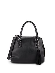 French Connection Jenny Suede Accented Satchel Black