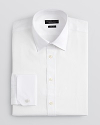 The Men's Store At Bloomingdale's Mini Herringbone Cuff Link Dress Shirt Slim Fit White