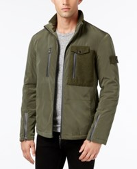 William Rast Men's Tipton Full Zip Jacket Olive Knight