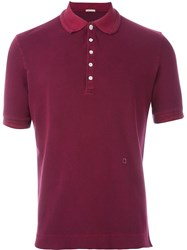 Massimo Alba Tennis Polo Shirt Red