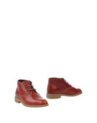 Swear Ankle Boots Brick Red