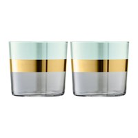 Lsa International Bangle Tumbler Set Of 2 Melon