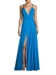 Milly Monroe Silk Blend Gown Lapis Blue