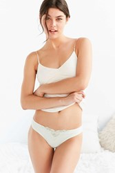 Out From Under Juliet Applique Thong Lime