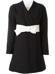 Valentino Bow Belt Dress Black
