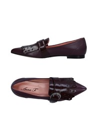 Anna F. Loafers Deep Purple