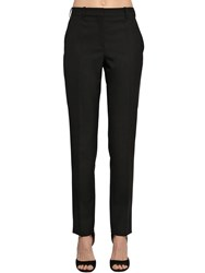 Givenchy Grain De Poudre Wool Pants Black