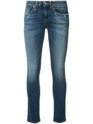 R 13 R13 Kate Skinny Low Rise Jeans Blue