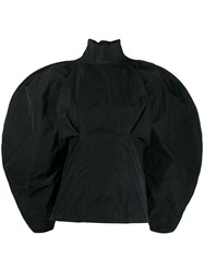 Givenchy Taffeta Oversized Sleeve Blouse Black