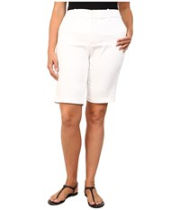 Nydj Plus Size Plus Size Justina Shorts Sateen Optic White Women's Shorts