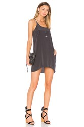 Chaser Silk T Back Mini Dress Black