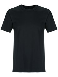 A La Garconne Plain T Shirt Unisex Cotton Gg Black