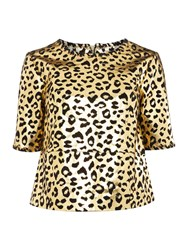 Biba Gold Stitch Detail Real Suede Top Gold