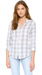 Sundry Plaid Button Down Shirt Natural